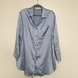 Victoria's Secret powder blue sleep shirt